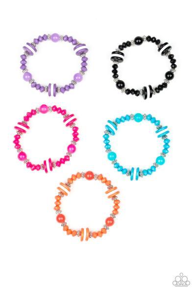 Starlet Shimmer Bracelets - Colorful Stripe
