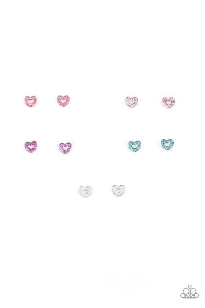 Starlet Shimmer Earrings - Glitter Heart
