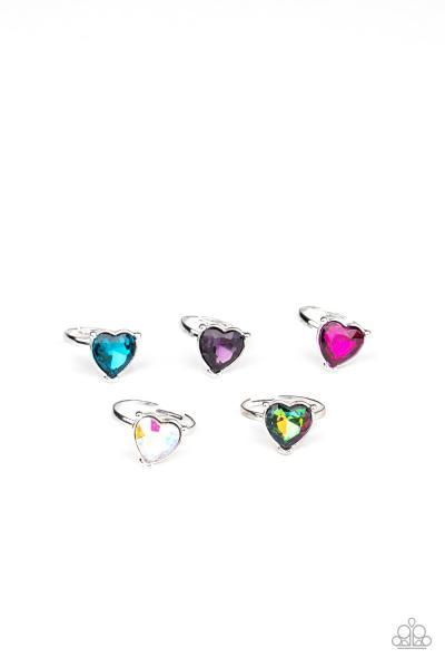 Starlet Shimmer Ring - Iridescent Heart
