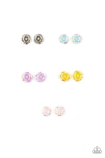 Starlet Shimmer Earrings - Iridescent Flower
