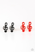 Starlet Shimmer Earrings - Treble Cleft